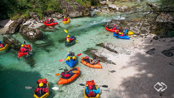 Wildwasser Packrafting Slowenien